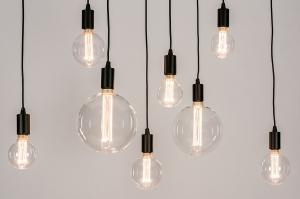 hanglamp 73960 industrie look modern metaal zwart mat rechthoekig