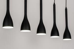 hanglamp 73961 modern retro metaal zwart mat rond langwerpig