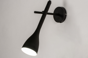 wandlamp 73962 modern retro metaal zwart mat rond langwerpig