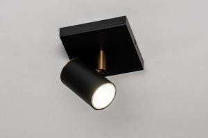 wandlamp 73981 design landelijk rustiek modern eigentijds klassiek metaal zwart mat messing