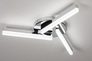 plafondlamp 73991 modern kunststof acrylaat kunststofglas metaal chroom