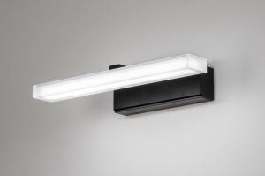 wandlamp 73993 modern kunststof acrylaat kunststofglas zwart mat wit mat langwerpig