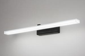 Wandleuchte 73994 modern Kunststoff Kunststoffglas schwarz matt weiss matt laenglich