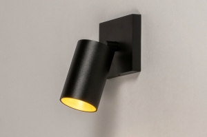 spot 73999 moderne aluminium acier noir mat or cuivre jaune mat rond rectangulaire