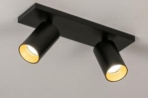 spot 74000 design modern aluminium metaal zwart mat goud messing rond langwerpig rechthoekig