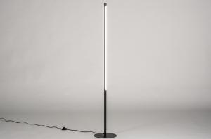 vloerlamp 74024 design modern staal rvs metaal zwart mat rond langwerpig