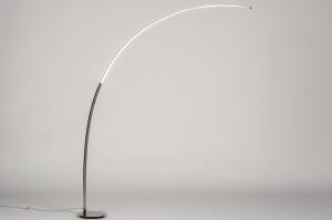 staande lamp 74026 modern staal rvs metaal staalgrijs langwerpig