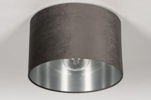onderdeel 74052 modern eigentijds klassiek stof grijs zilvergrijs antraciet donkergrijs rond