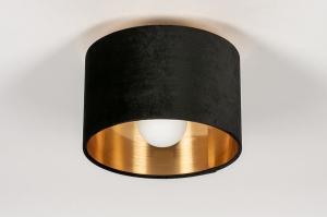 onderdeel 74058 stof zwart goud rond