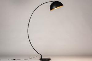vloerlamp 74066 landelijk rustiek modern eigentijds klassiek metaal zwart mat goud