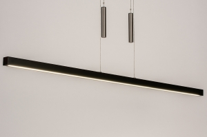 hanglamp 74068 design modern hout staal rvs metaal bruin hout langwerpig rechthoekig