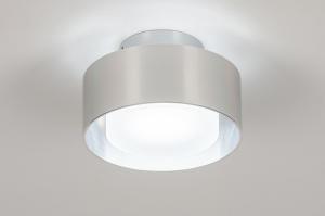 plafondlamp 74091 design modern retro aluminium geschuurd aluminium kunststof aluminium rond