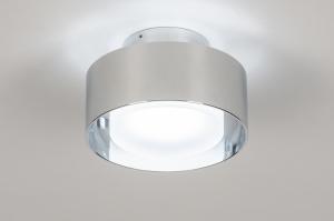 plafondlamp 74092 design modern retro aluminium kunststof metaal chroom rond