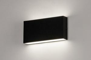 Wandleuchte 74095 Design modern Aluminium Metall schwarz rechteckig