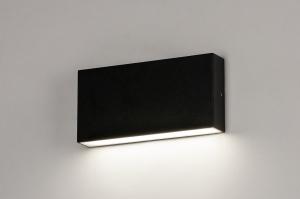 Wandleuchte 74096 Design modern Aluminium Metall schwarz rechteckig