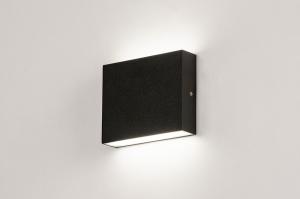 wandlamp 74097 modern aluminium metaal zwart mat