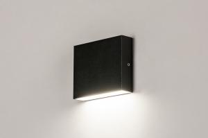 buitenlamp 74098 modern aluminium metaal zwart mat