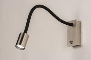 wandlamp 74106 industrie look modern staal rvs metaal zwart mat staalgrijs rond rechthoekig