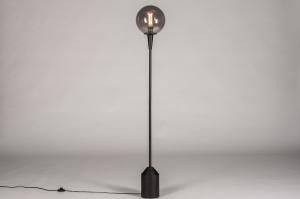 vloerlamp 74126 landelijk rustiek modern glas metaal zwart mat