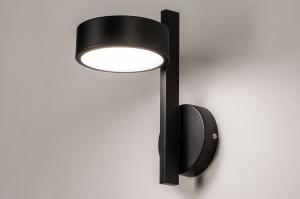 wandlamp 74132 modern kunststof metaal zwart mat