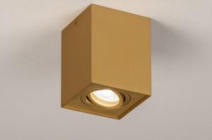 spot 74140 soldes rural rustique moderne classique classique contemporain aluminium cuivre jaune mat oblongue