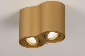 plafondlamp 74141 landelijk rustiek modern klassiek eigentijds klassiek aluminium messing rond