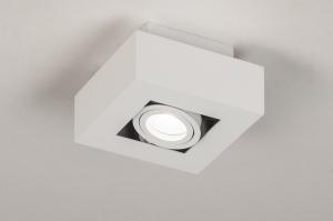 plafondlamp 74143 design modern metaal wit mat vierkant