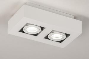 plafondlamp 74144 design modern metaal wit mat rechthoekig