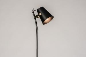 vloerlamp 74149 landelijk rustiek modern eigentijds klassiek messing geschuurd metaal zwart mat messing