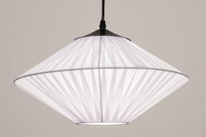 hanglamp 74157 landelijk rustiek modern eigentijds klassiek stof wit