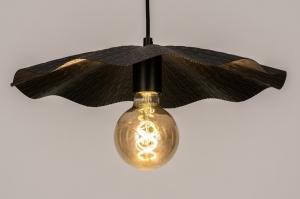 hanglamp 74165 landelijk rustiek eigentijds klassiek metaal zwart mat