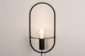 wandlamp 74171 design landelijk rustiek modern messing geschuurd metaal zwart mat messing ovaal