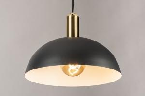 hanglamp 74173 sale design modern eigentijds klassiek messing metaal zwart mat messing