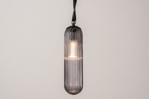 hanglamp 74175 sale design modern eigentijds klassiek glas zwart
