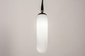 hanglamp 74176 design modern eigentijds klassiek glas wit opaalglas zwart