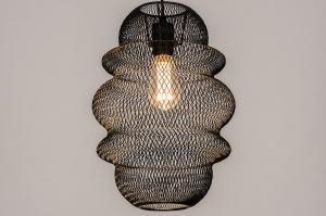 hanglamp 74181 sale landelijk rustiek modern eigentijds klassiek metaal zwart mat