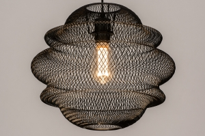 hanglamp 74182 sale landelijk rustiek modern eigentijds klassiek metaal zwart mat