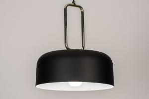 hanglamp 74183 design modern eigentijds klassiek messing metaal zwart mat messing