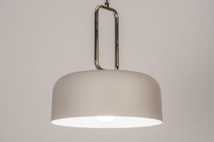 hanglamp 74184 design modern eigentijds klassiek messing metaal grijs messing