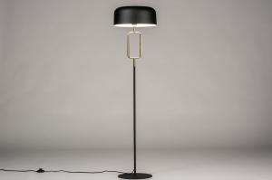 vloerlamp 74187 modern eigentijds klassiek messing metaal zwart mat messing