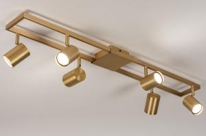 plafondlamp 74193 modern messing metaal messing langwerpig rechthoekig