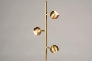vloerlamp 74194 modern retro messing geschuurd metaal goud messing rond