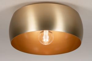 plafondlamp 74198 landelijk rustiek modern klassiek eigentijds klassiek messing geschuurd metaal goud messing rond