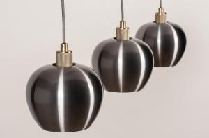 hanglamp 74205 modern messing aluminium metaal goud aluminium messing staalgrijs langwerpig