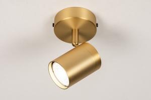 plafondlamp 74209 landelijk rustiek modern klassiek eigentijds klassiek messing metaal messing rechthoekig