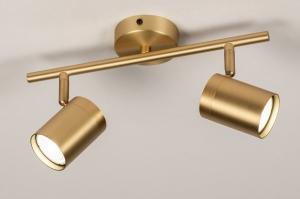 plafondlamp 74210 landelijk rustiek modern klassiek eigentijds klassiek messing metaal messing langwerpig