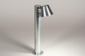 lampadaire 74213 soldes design moderne acier galvanise galvanise thermiquement rond