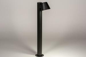 eclairage exterieur 74214 soldes design moderne aluminium noir mat rond