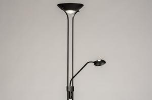 vloerlamp 74215 modern eigentijds klassiek staal rvs metaal zwart mat staalgrijs rond
