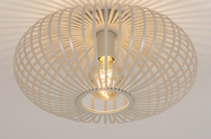 plafondlamp 74222 modern retro metaal beige taupe rond